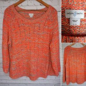 Jacklyn Smith neon sweater size XL